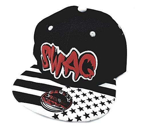 Snapback Sports Caps Gorra Rojo Negro Swag