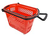 Grocery Shopping Basket Plastic Supermarket with Pull Handle Retail Display Store Red Lof of 6 NEW