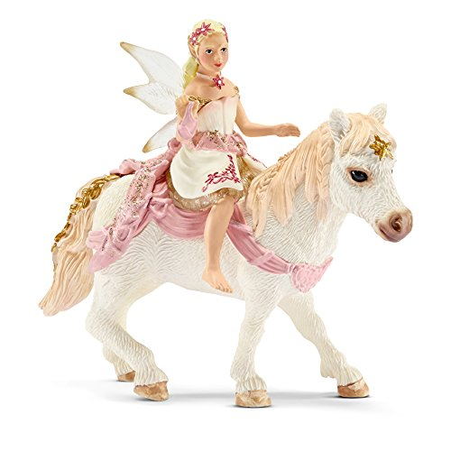 Schleich Delicate Lily Elf, Riding A Pony Toy Figure (Schleich Elf Figurine)