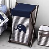 Best Bacati Baby Cribs - Bacati Elephants Blue/Grey Hamper Review