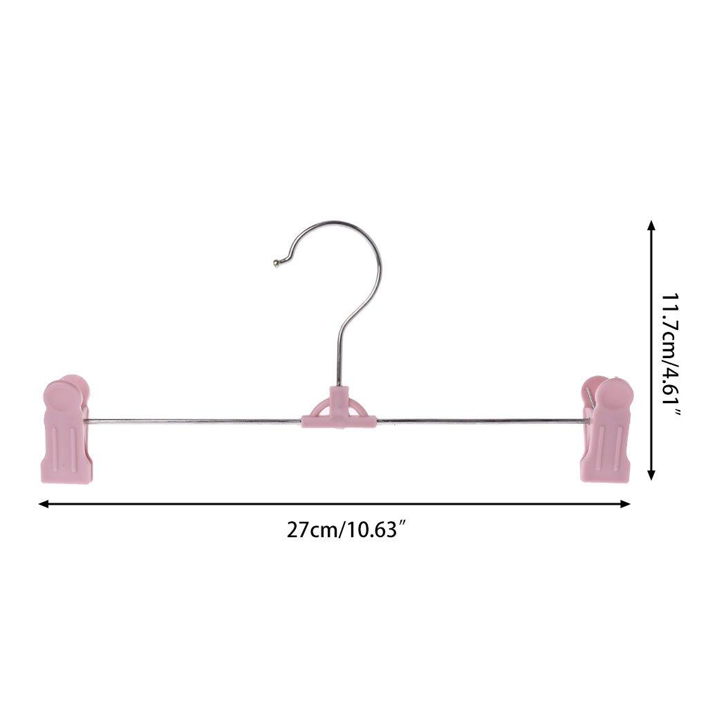 Runrain 10Pcs Haupt justierbarer Standplatz-Klipp-Kleidung keucht Rock-Aufh/änger-rutschfeste Trockengestell Pink