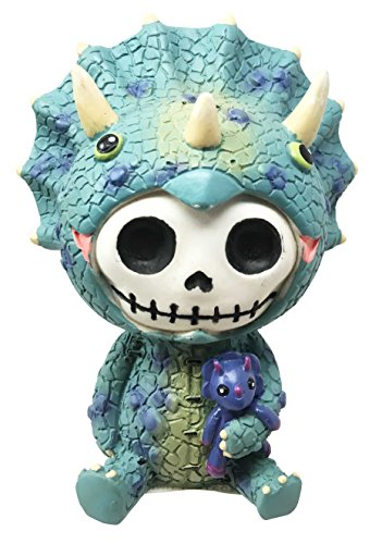 Furry Bones Spike Triceratops Dinosaur Costume Skeleton Monster Sit Up Ornament Figurine ()