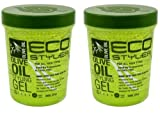 ECOCO Eco Style Gel, Olive,(2 Pack of 32 Ounce)
