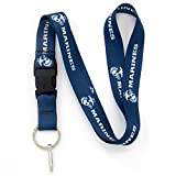 Buttonsmith Officially Licensed Marines Blue USMC Premium Premium Lanyard with Buckle and Flat Ring - Made in USA