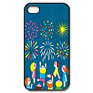 Cases for IPhone 4/4s, the Fireworks and Children Illustrations. Cases for IPhone 4/4s, Sexyass Black