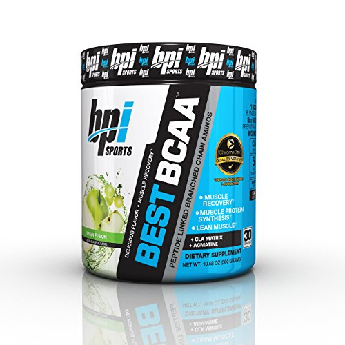 BPI Sports Best BCAA - BCAA Powder - Branched Chain Amino Acids - Muscle Recovery - Muscle Protein Synthesis - Lean Muscle - Improved Performance – Hydration – Green Fusion - 30 Servings - 10.58 o