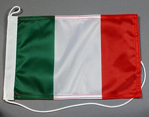 Bootsflagge Italien 20 x 30 cm in Profiqualität Flagge Motorradflagge