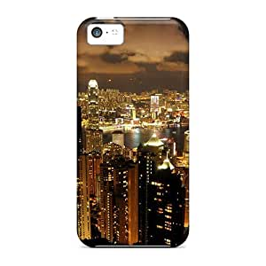 Iphone 5c Case Cover - Slim Fit Tpu Protector Shock Absorbent Case (perl Of Orient)