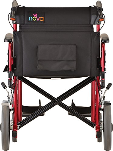 NOVA-Medical-Products-22-Heavy-Duty-Transport-Wheelchair-Red