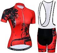Women's Cycling Clothing Short Sleeve Bike Jersey Sets Bib Shorts Reflective 3 Po