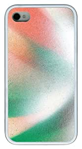 iPhone 4S/4 Case Cover - Spray Paint Line Curves Stylish Custom Design iPhone 4s/4 Case and Cover - TPU - White
