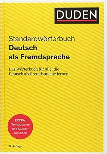 Duden Deutsch Als Fremdsprache Standardwörterbuch Das