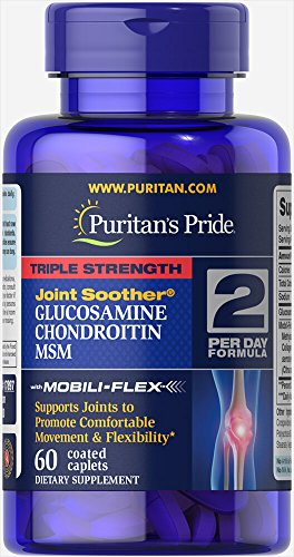 Puritan's Pride Triple Strength Glucosamine, Chondroitin & MSM Joint Soother-60 ()