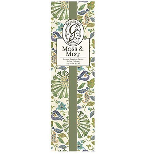 Greenleaf Slim Scented Envelope Sachet Set of 4 - Moss & Mist by Greenleaf Gifts