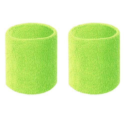 Happywendy Colorful Cotton Sport Wristband for Men and Women - 3