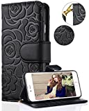 iPhone 8 Plus Case,iPhone 7 Plus Wallet Case,FLYEE Premium Flip Wallet Leather [Emboss Flower]...