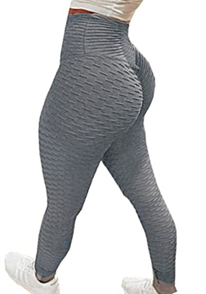 Yeesea Mujer Cintura Alta Deportes Elásticos Push Up Leggins Workout Yoga  Fitness Skinny Leggings Pantalones Largos Gris Large  Amazon.es  Ropa y  accesorios dbdee471e619