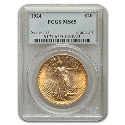 1924 $20 St. Gaudens Gold Double Eagle MS-65 PCGS G$20 MS-65 PCGS