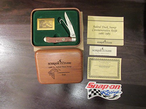 Schrade Cutlery - Schrade Cutlery 1988/89 Federal Duck Stamp Commemorative Knife with Snap-On Racing Decal