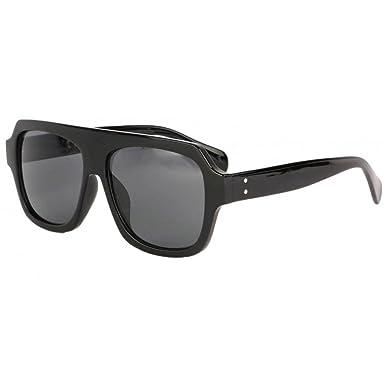Grosses lunettes soleil noires fashion Kam - Mixte  Amazon.fr ... 692c0bd261ee