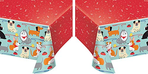 Puppy Party Table Covers - Pack of 2
