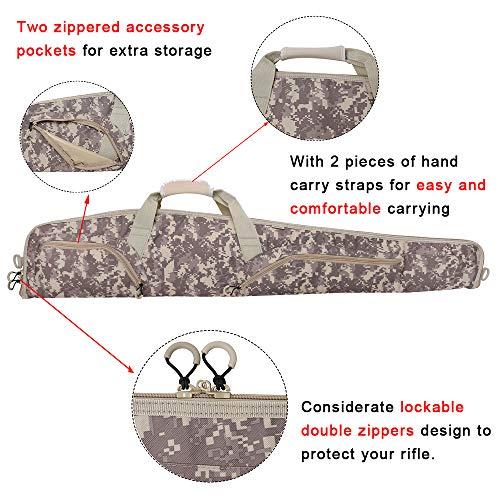Waxaya Soft Shotgun Gun Case Rifle Cases Storage Bag for Scoped Rifles (ACU, 52inch)