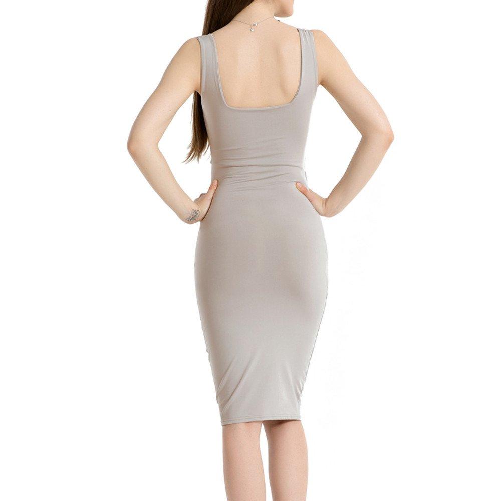 Amazon.com: Minisoya - Vestido para mujer, sin mangas ...