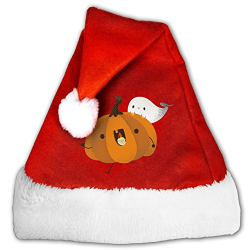 Crazy Halloween Pumpkin And Ghost Christmas Santa Hat Christmas Party Caps For Childrens And Adults Family -