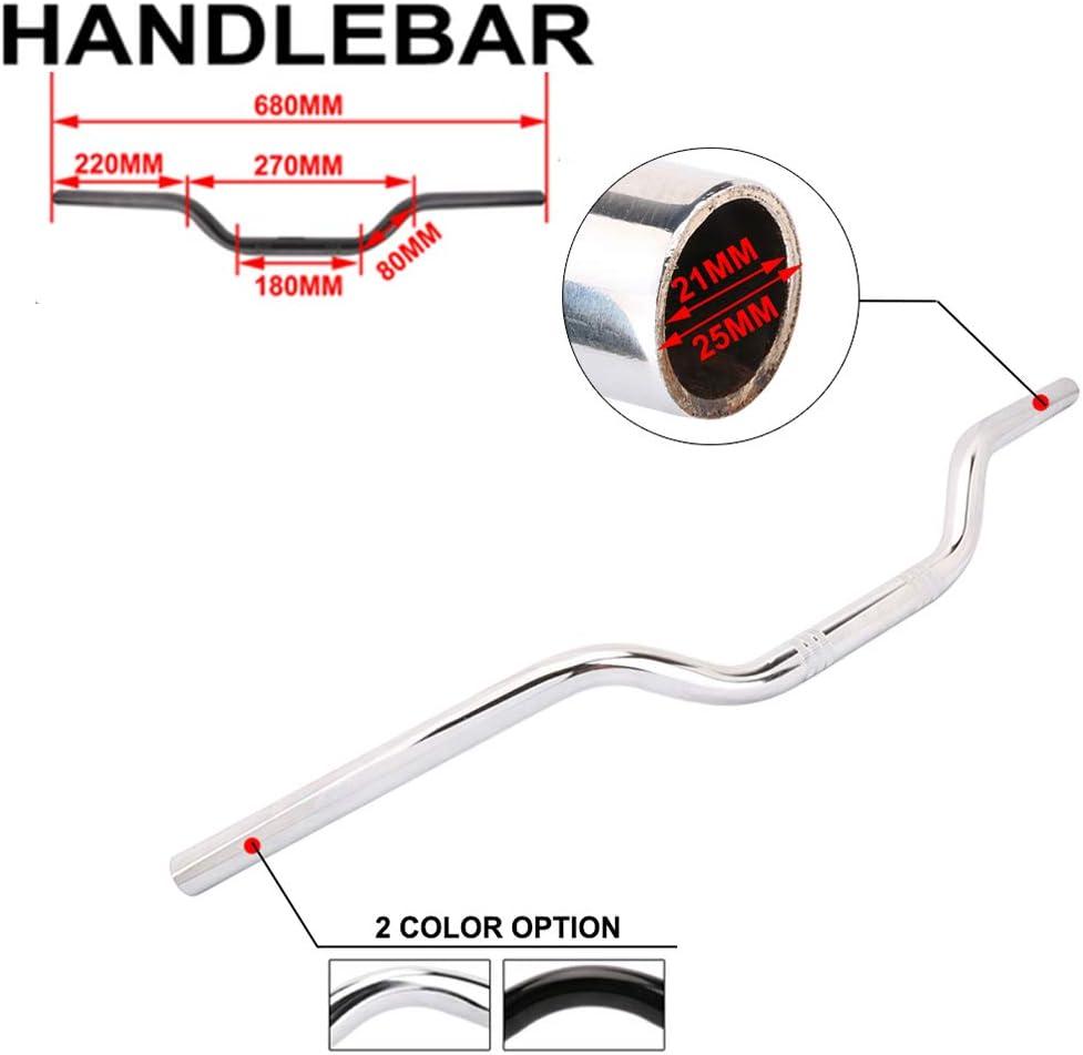 Chrome Handlebars Universal Hand Bars For Harley Sportster XL 883 1200 Bobber Custom Chopper Softail Dyna Euro Style YSMOTO Motorcycle 1 Drag Tracker Handlebar