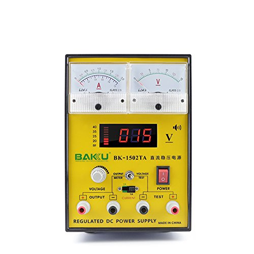 Baku Bk 1502Ta Dc Power Supply 15V 2A   Adjustable Variable Regulated Digital Precision Equipment With Led Display For Cell Phones Electronics 110V