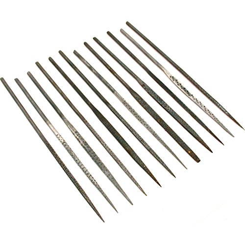Findingking 12 Wax Carving Files Jewelers Filing Needle Hand Tools ()