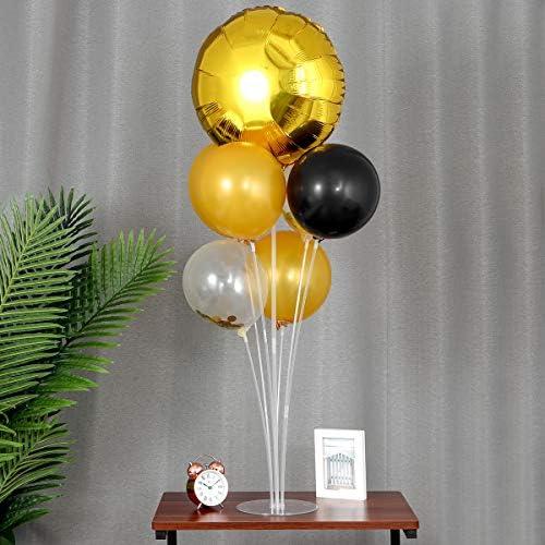 TINKSKY バルーン ホルダー 風船スティック バルーンスタンド 風船 留め具 結婚式 パーティー 風船飾り付け 4セット 70cm