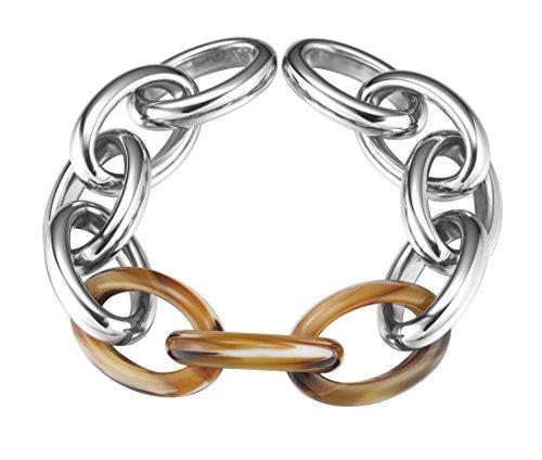 Horn Link Bracelet Watch - Esprit Jewel Toirtoise Big Link ESBR11606B210 Womens' bracelet Horn-rimmed look