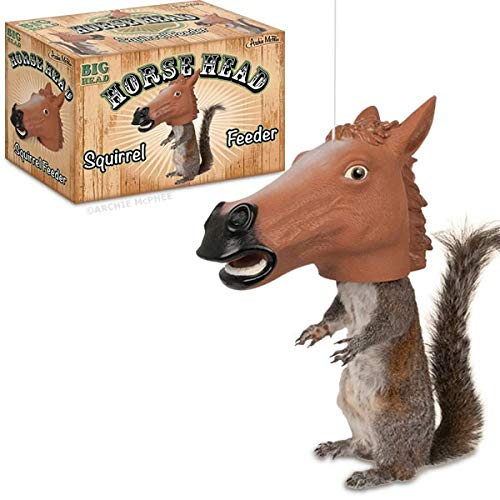 Accoutrements Horse Head Squirrel Feeder (Backyard Renovation Ideas)