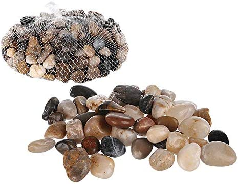 Invero - Piedras Decorativas pequeñas de Colores Naturales para decoración de Mesa, macetas, jarrones, Jardines, Bodas, acuarios y más, Bolsa de 1 kg: Amazon.es: Hogar