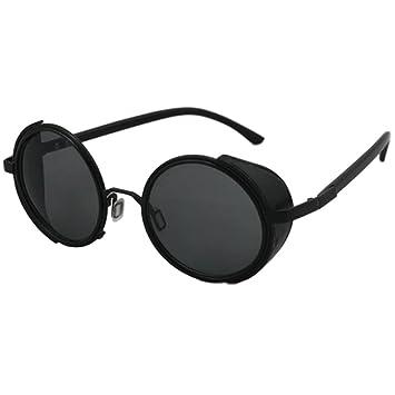 SODIAL Gafas de Sol Steampunk Retro (Negro): Amazon.es ...