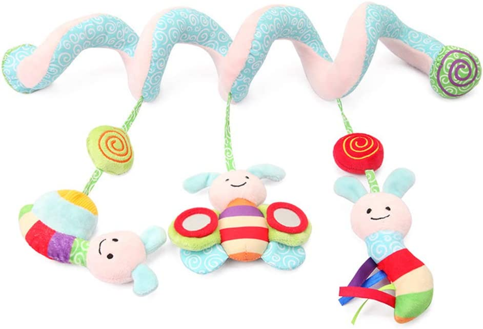 Bees Spiral Activity Hanging Toys Baby Stroller Toys Cart Seat Pram Toy Practical and Popular