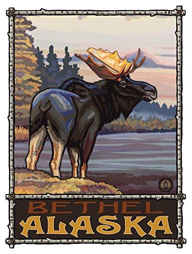 Bethel Alaska Moose Travel Art Print Poster by Paul A. Lanquist (9