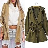 Product review for KESEE Clearance Coat ☀ Women Hooded Jacket Windbreaker Parka Pockets Cardigan Thin Coat