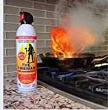 THE FIREMAN - Multi Purpose Home Safety Fire Extinguishing Suppressant Spray - Fights ALL 4 Common Fires: Wood, Gasoline, Electrical Equipment and Grease Fires (Class A,B,C & K) - 18 oz. (3 Pack)