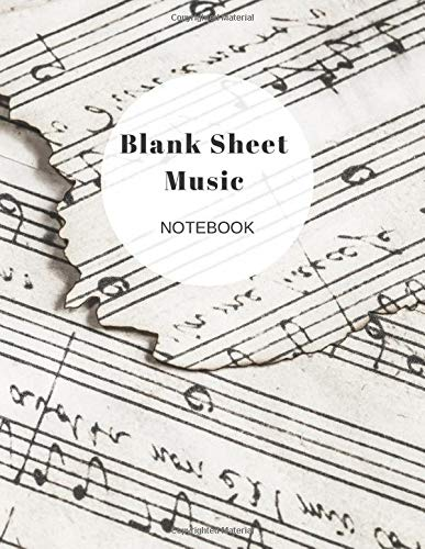 Blank Sheet Music Notebook: Songwriter Musician Journal, Music Notebook With Staff Paper, Includes Wide-Ruled Lines To Record Song Lyrics and Ideas,12 Stave Manuscript Paper Graph INC