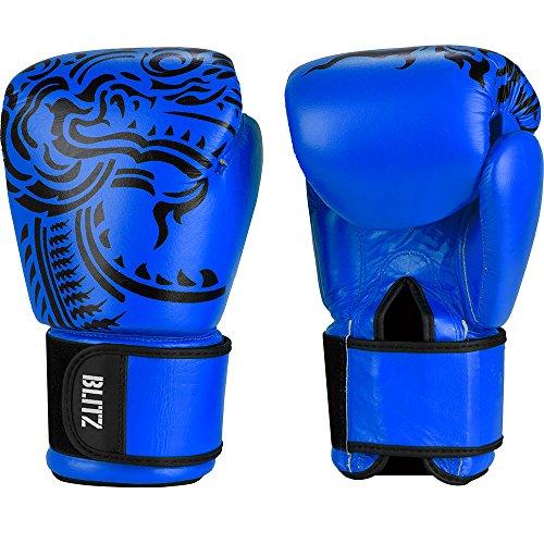Blitz Firepower Muay Thai Leather Boxing Gloves