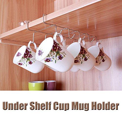 MD Group Kitchen Storage Rack Cupboard Hanging Hook 12 Hooks Stainless Steel Shelf Dish Hanger Chest Storage