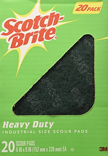 Scotch Brite Heavy Duty Industrial Size Scouring Pads (20 (Green Scrubber)