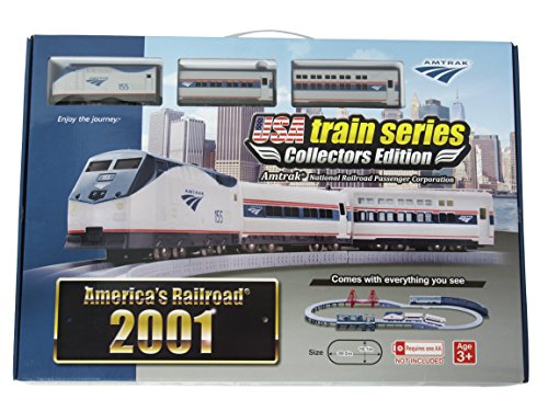 LEC USA 2001 Amtrak National Railroad Passenger Corporation Battery Operated Train Set Acela Train Set
