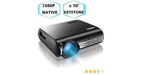 Proyector 1080P, XINDA 5000 Lux Proyector, ±50°4D Keystone ...