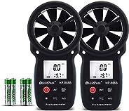 Holdpeak Digital Anemometer Handheld 866B 2PCS LCD Wind Speed Meter Measuring Wind Speed, Temperature Wind Chi