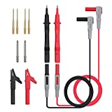 Tanice 12 in 1 Multimeter Probe Test Lead Kit with Alligator Clips Replaceable Automotive Multimeter Leads Clamp Meter Leads Electronic Multimeter Test Leads