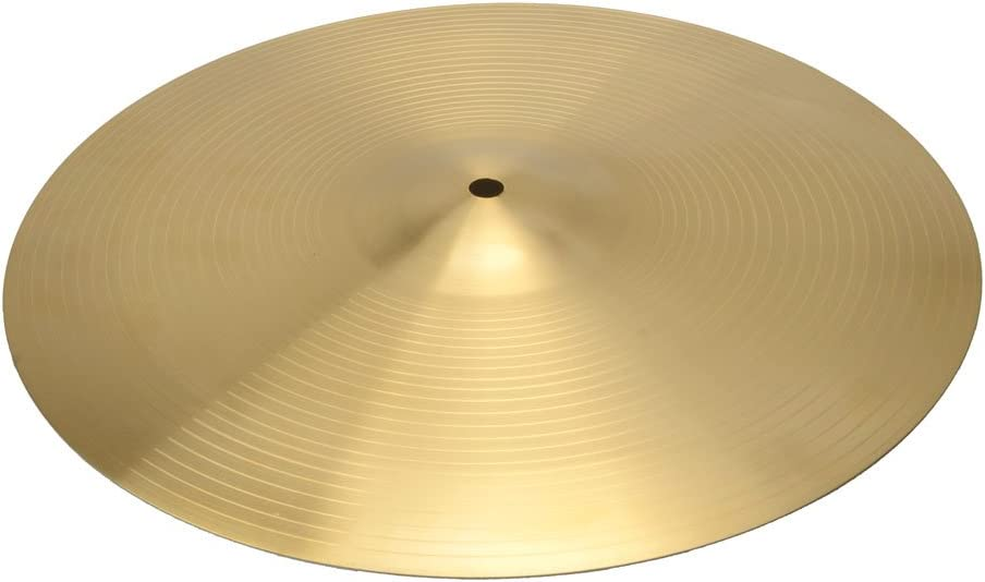 Professional 18 0.8mm Copper Alloy Ride Cymbal for Drum Set Golden