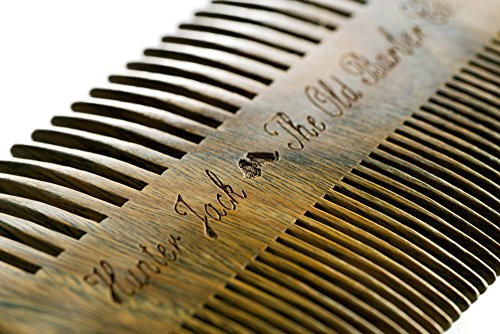 Beard-Comb-Kit-for-Men-Great-for-Head-Hair-Beard-Mustache-Handmade-Premium-Sandal-Wood-Fine-Dual-Action-Teeth-Comes-with-Gift-Hunter-Jack-PU-Leather-Case-Free-eBook
